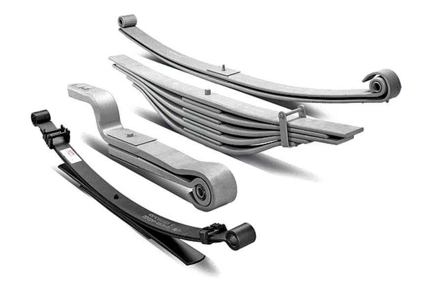 There are many different types of leaf-springs doing duty in different vehicles.