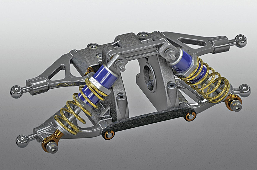 Double-wishbone suspension is generally found in higher end cars.